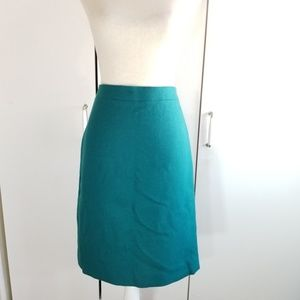 J.crew size 8 wool pencil midi skirt